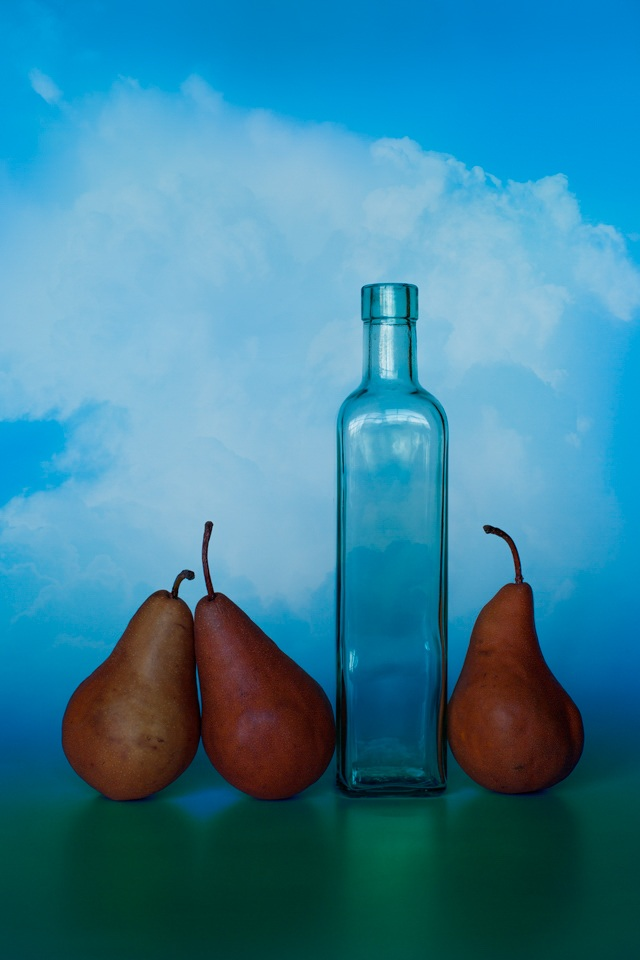 Honorable Mention - Three Pears and a Bottle - Terry Butler - WWPC