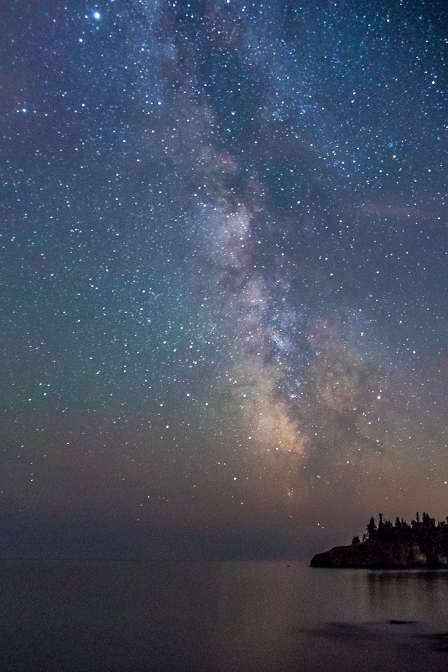 Milky Way over Ellingson Island - Lake Superior - Jim Simms - SPCC