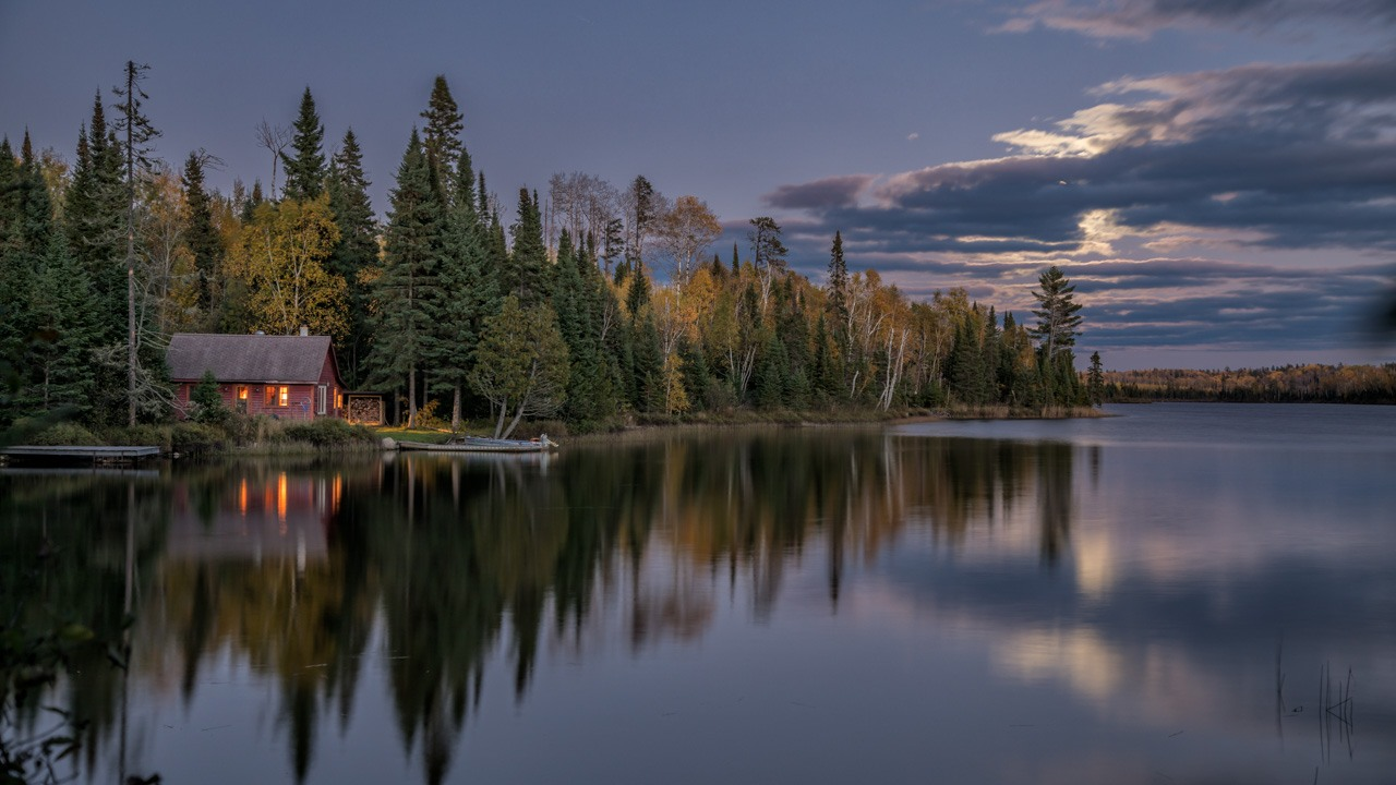 Award - Moon Rise at the Cabin on the Lake - Tom Schendel - NMPC