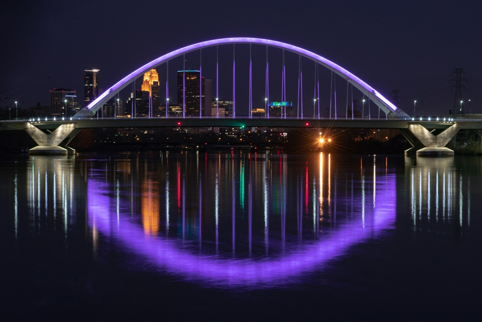 Lowry Bridge Reflects with Purple - Karen Biwersi - MVPC