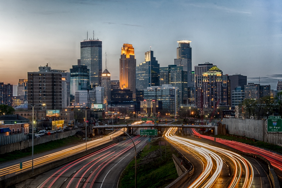 Award - Minneapolis Skyline from the old 24th Bridge - Karen Biwersi - Minnesota Valley Photo Club