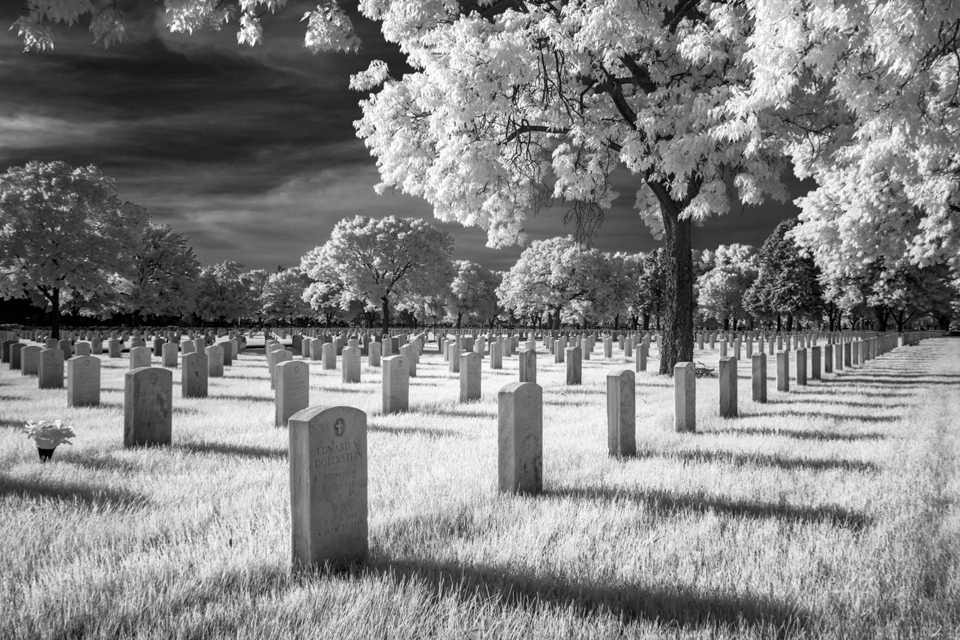 FFort Snelling National Cemetery in Infrared Black and White - Ken Wolter - WWPC