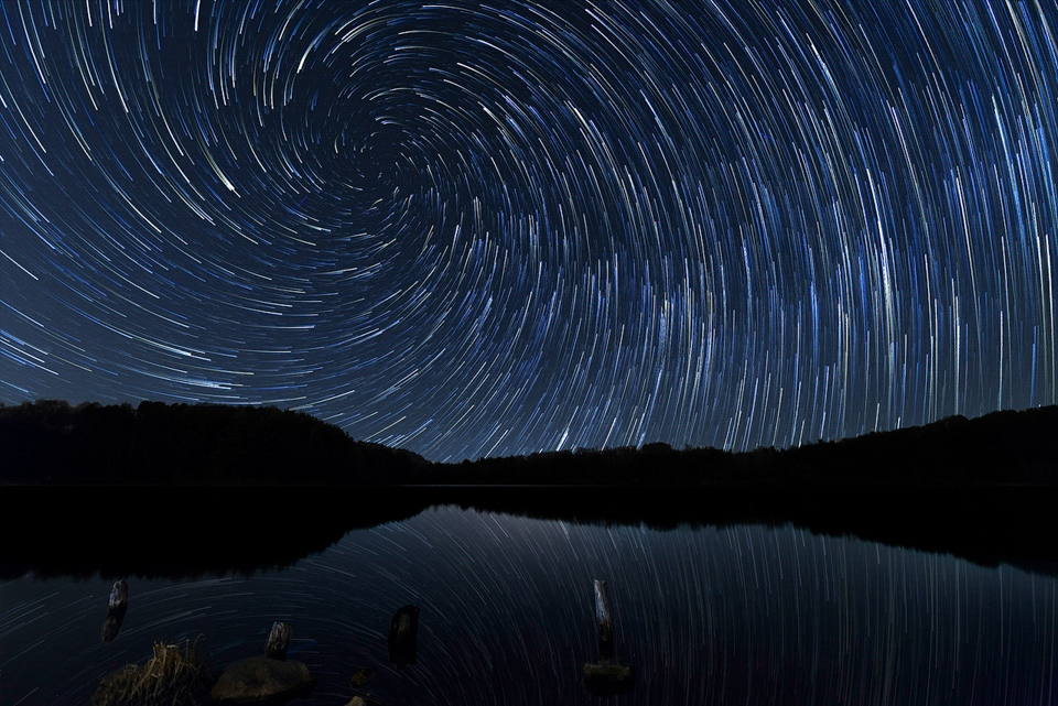Vortex Star Trails over Perch Lake - Terry Butler - WWPC