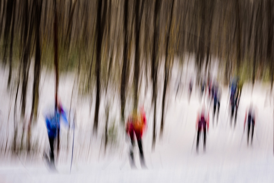 Honorable Mention - Birkebeiner Blur - Kathy Bishop - Minnesota Nature Photography Club