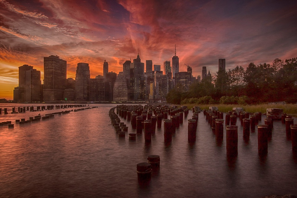 Honorable Mention - Sunset over Manhattan - Paul Kammen - Minnesota Nature Photography Club