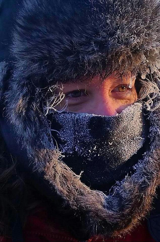 Honorable Mention -  Frozen Photographer Selfie - Brrr! - Patricia Jones - Northe Metro Photo Club