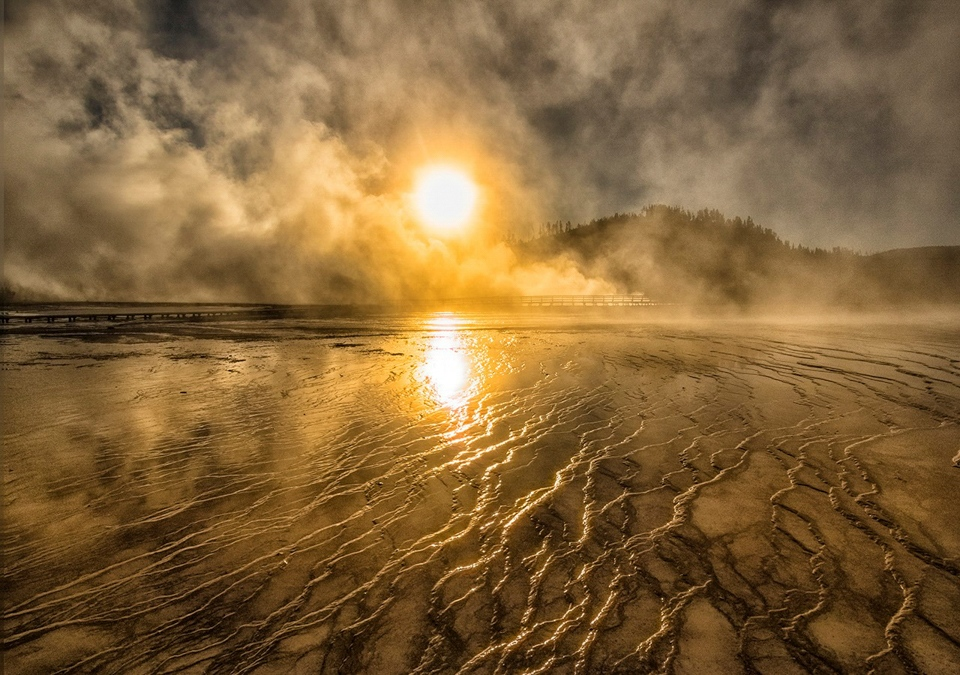 Honorable Mention - Grand Prismatic Sunrise - Paul Kammen - Minnesota Nature Photography Club