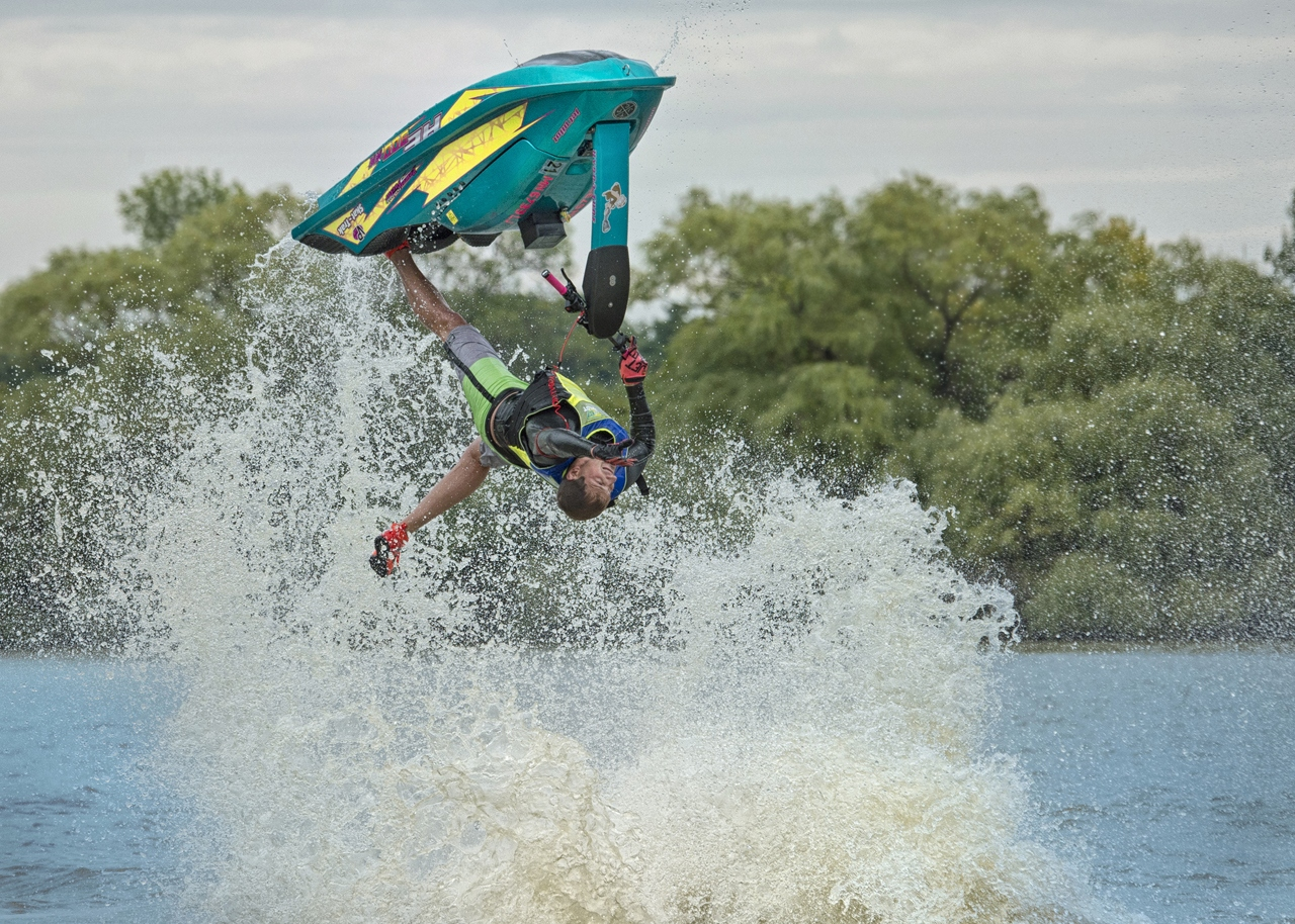 Upside Down Jet Skier - Kathy Wall - NMPC