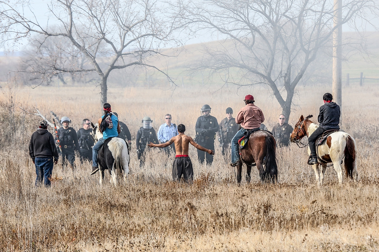 1st Place Image of the Year -Standoff at Standing Rock - J Arthur Anderson - Fort Snelling State Park Camera Club