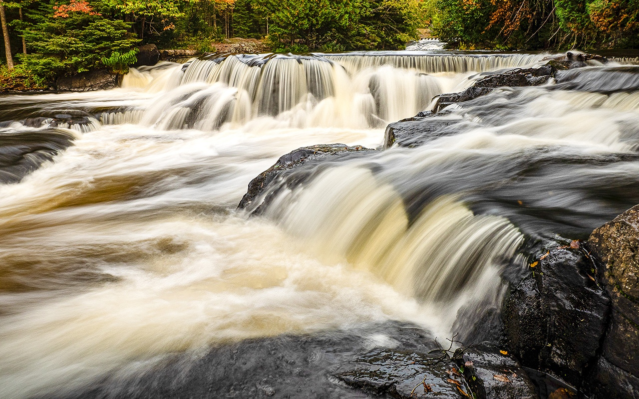 Honorable Mention - Upstream From Bond Falls - Pat Boudreau - North Metro Camera Club