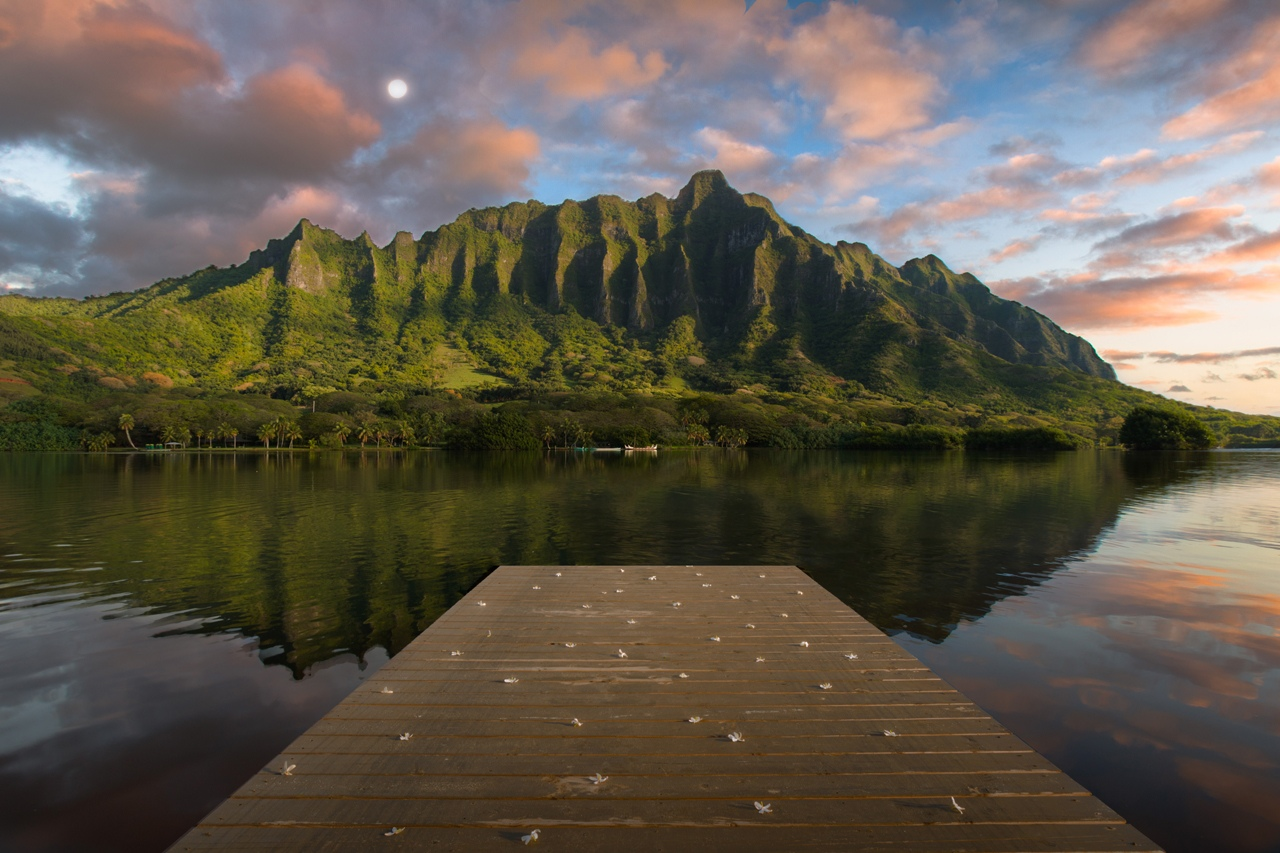 Dock Vew of Kualoa Mountians - Brian Doyle - MNPC