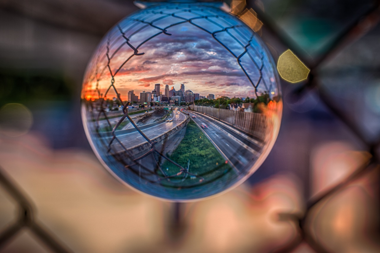 Minneapolis Through the Fence - Asha Lalla - NMPC