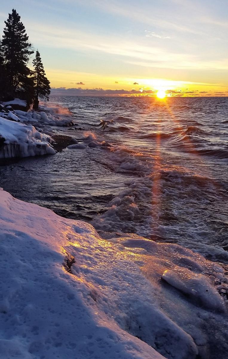 Superior Wintertime Sunrise - Patricia Jones - NMPC