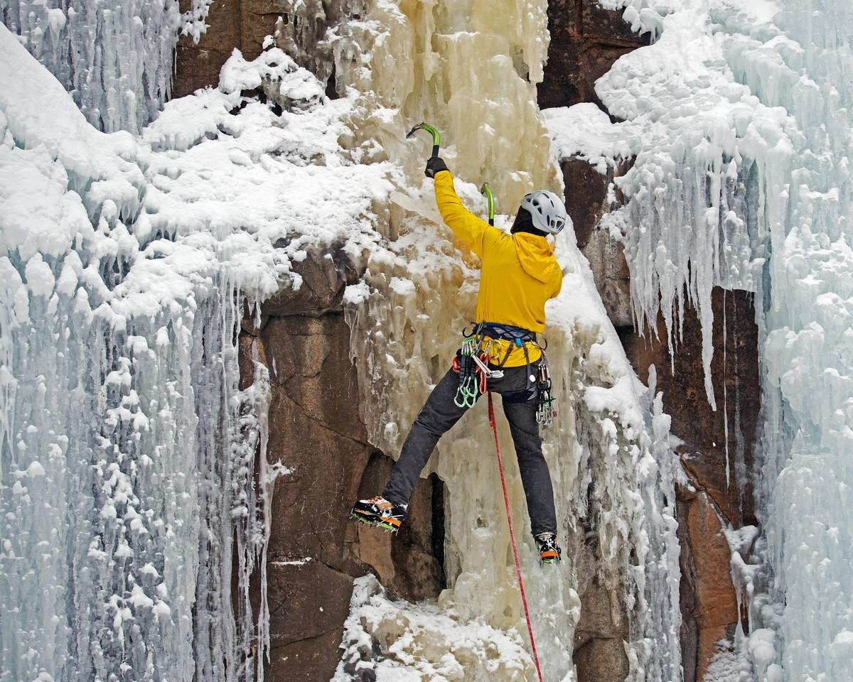 Honorable Mention - On the Ice Wall - Ronnie Hartman - Minneapolis Photographic Society