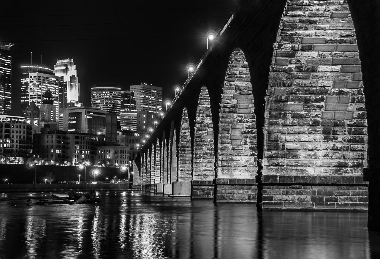 Honorable Mention - Stone Arch Bridge at Night - AlanKiecker - Minnesota Valley Photography Club