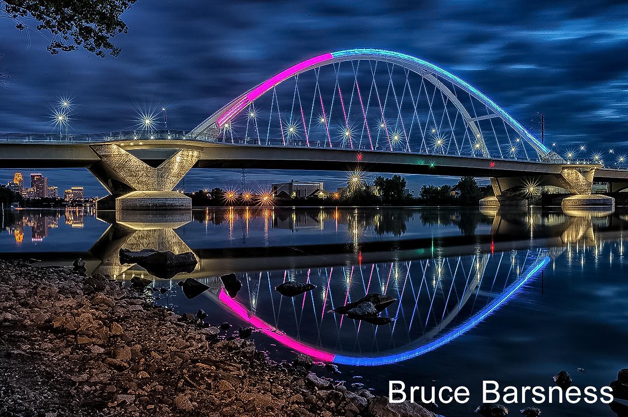 Lowry Avenue Bridge over the Mississippi River in Minneapolis, Minnesota