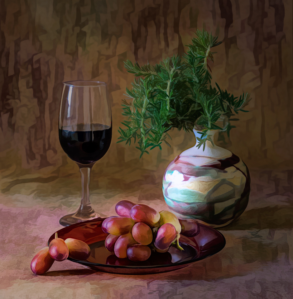 Grapes and Rosemary - Peggy  Boike - SCVCC