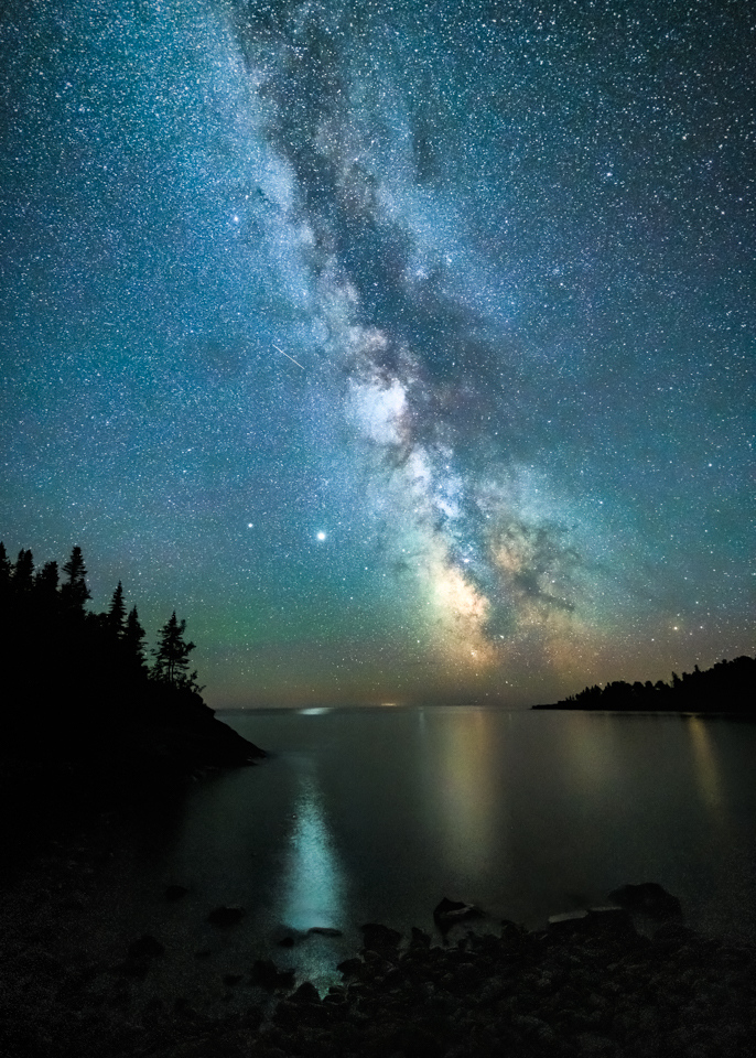 Jupiter and the Milky Way Over Lake Superior - Marianne Diericks - WWPC