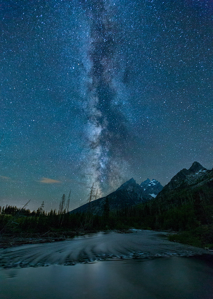 Milky Way Over the Teton Mountains - Terry Butler - WWPC