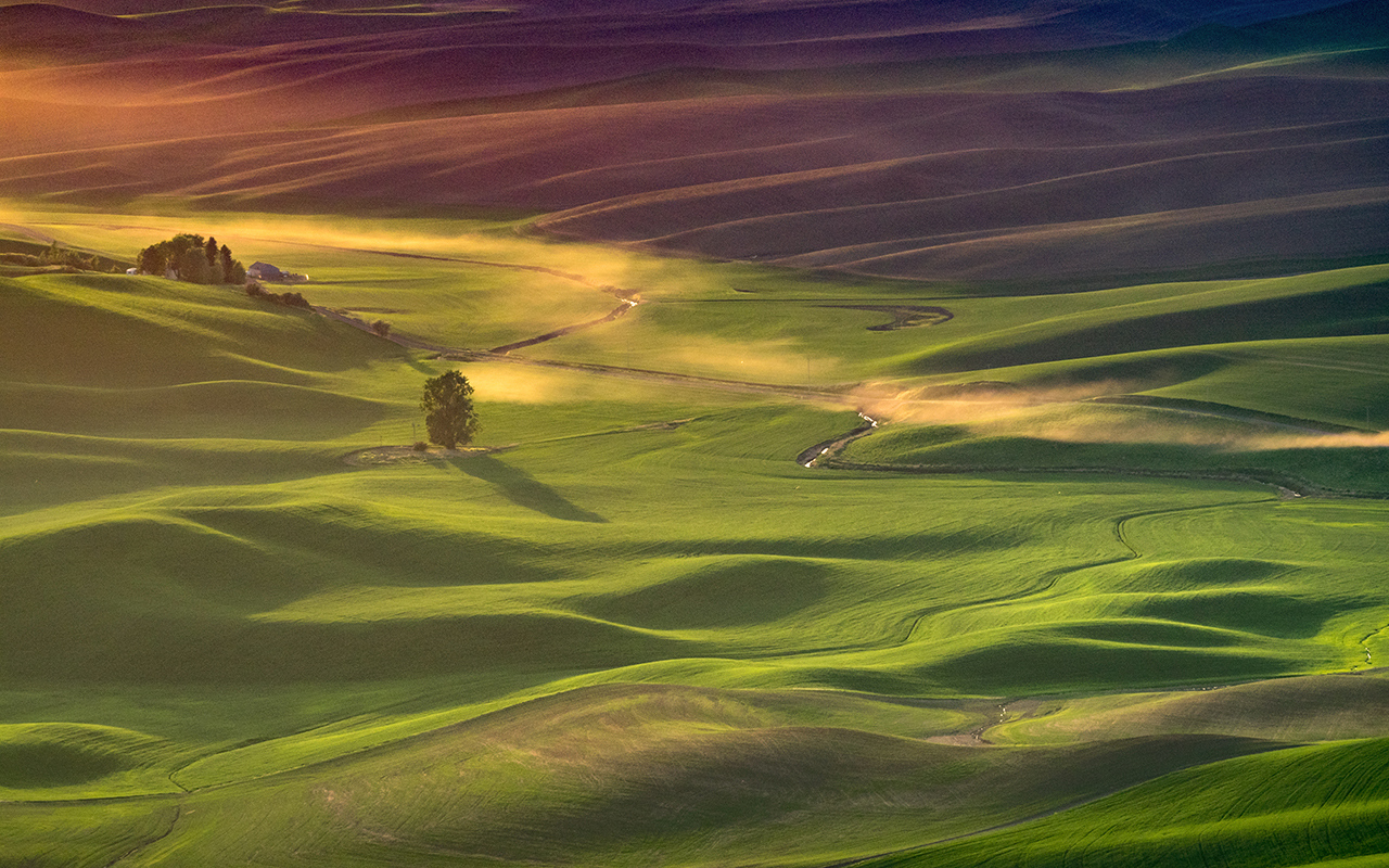 Honorable Mention - Steptoe Butte Dusty Road - Pat Boudreau - North Metro Photo Club
